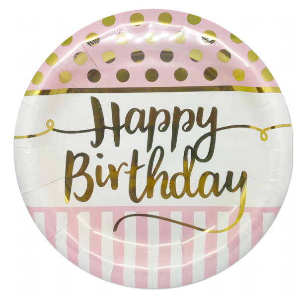 Pink Chic - Happy Birthday Dinner Plates